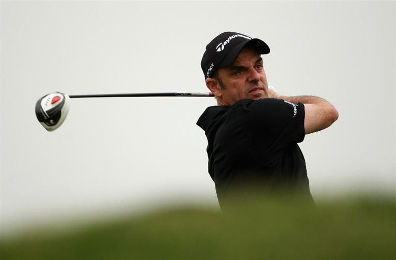ABU DHABI, UNITED ARAB EMIRATES - JANUARY 21:  Paul McGinley of Ireland in action during the second round of The Abu Dhabi HSBC Golf Championship at Abu Dhabi Golf Club on January 21, 2011 in Abu Dhabi, United Arab Emirates.  (Photo by Andrew Redington/Getty Images)