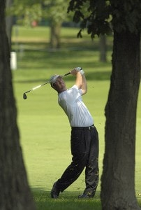 Tag Ridings during the second round of the U.S. Bank Championship in Milwaukee at Brown Deer Park Golf Course in Milwaukee, Wisconsin, on July 28, 2006.Photo by Steve Levin/WireImage.com