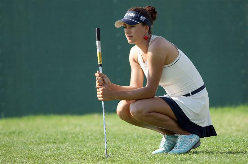 DUBAI, UNITED ARAB EMIRATES - DECEMBER 12:  Maria Verchenova of Russia looks on at the 9th hole during the second round of the Dubai Ladies Masters on the Majilis Course at the Emirates Golf Club on December 12, 2008 in Dubai,United Arab Emirates  (Photo by David Cannon/Getty Images)