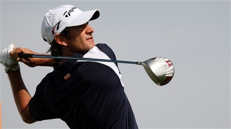 SEVILLE, SPAIN - MAY 02:  Carlos Rodiles of Spain tees off on the par four 15th hole during the second round of the Open de Espana at the Real Club de Golf de Sevilla on May 2, 2008 in Seville, Spain.  (Photo by Ross Kinnaird/Getty Images)