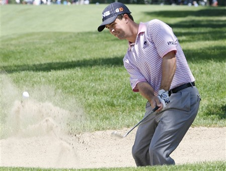 GRAND BLANC, MI - JUNE 28:  Charles Warren hits from a bunker to the ninth green during the third round of the Buick Open at Warwick Hills Golf and Country Club on June 28, 2008 in Grand Blanc, Michigan.  (Photo by Gregory Shamus/Getty Images)