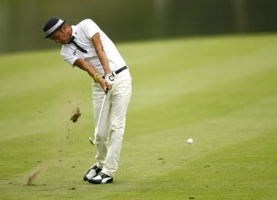 Jesper Parnevik during the first round of the 88th PGA Championship at Medinah Country Club in Medinah, Illinois, on August 17, 2006.Photo by Mike Ehrmann/WireImage.com