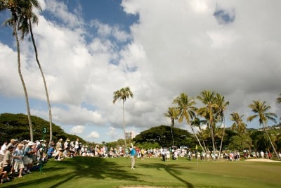 A scenic view of the course at the third hole during the third round of the Sony Open in Hawaii held at Waialae Country Club January 12, 2008 in Honolulu, Hawaii. PGA TOUR - 2008 Sony Open in Hawaii - Third RoundPhoto by Stan Badz/PGA TOUR/WireImage.com