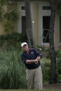 Craig Stadler plays his recovery shot on the 16th hole during the third and final round of the Boeing Championship at Sandestin at Raven Golf Club in Destin, Florida on May 14, 2006.Photo by Michael Cohen/WireImage.com