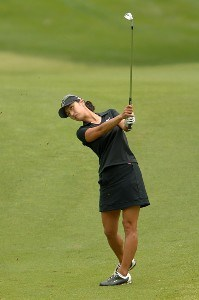 Grace Park in action during the first round of the 2006 Franklin American Mortgage Championship benefiting the Monroe Carell Jr. Children's Hospital at Vanderbilt at Vanderbilt Legends Club in Franklin, Tennessee on May 4, 2006.Photo by Steve Grayson/WireImage.com