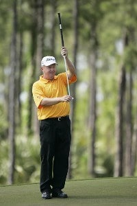 Co-leader Billy Mayfair at the 4th green during the third round of The Honda Classic held on the Sunshine Course at Country Club at Mirasol in Palm Beach Gardens, Florida, on March 11, 2006.Photo by: Stan Badz/PGA TOUR