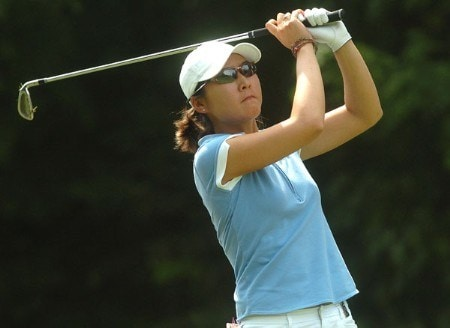 Candie Kung in action during the first round of the LPGA's Wendy's Championship For Children at Tartan Fields Golf Club in Dublin, Ohio August 25, 2005.Photo by Steve Grayson/WireImage.com