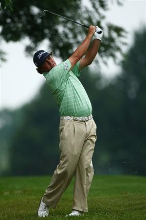 OAKVILLE, ONTARIO, CANADA - JULY 25: Jason Dufner plays his second shot on the 16th hole during round two of the RBC Canadian Open at Glen Abbey Golf Club on July 25, 2009 in Oakville, Ontario, Canada.  (Photo by Chris McGrath/Getty Images)