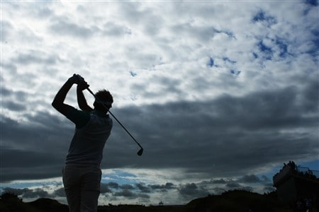 SOUTHPORT, UNITED KINGDOM - JULY 15:  Ian Poulter of England hits an approach shot on the 9th hole during the second practice round of the 137th Open Championship on July 15, 2008 at Royal Birkdale Golf Club, Southport, England. (Photo by Stuart Franklin/Getty Images)