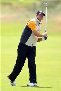 SOUTHPORT, UNITED KINGDOM - JULY 20:  Retief Goosen of South Africa plays a shot on the 1st fairway during the final round of the 137th Open Championship on July 20, 2008 at Royal Birkdale Golf Club, Southport, England.  (Photo by Andrew Redington/Getty Images)