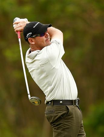 RIO GRANDE, PR - MARCH 12:  Rich Beem hits his tee shot on the third hole during the first round of the 2009 Puerto Rico Open presented by Banco Popular on March 12, 2009 at the Trump International Golf Club in Rio Grande, Puerto Rico.  (Photo by Mike Ehrmann/Getty Images)