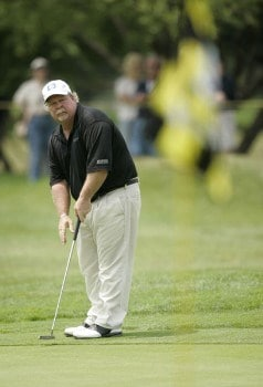 Craig Stadler on the 17th hole during the first round of the Commerce Bank Championship being held at the Eisenhower Park Red Course in East Meadow, New York on Friday July 1, 2005.Photo by Mike Ehrmann/WireImage.com