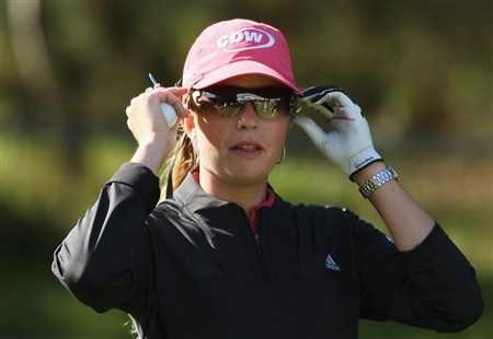 SUNNINGDALE, UNITED KINGDOM - JULY 29:  Portrait of Paula Creamer of the USA during the Pro-Am prior to the start of the Ricoh Women's British Open at Sunningdale Golf Club on July 29, 2008 in Sunningdale, England  (Photo by Warren Little/Getty Images)