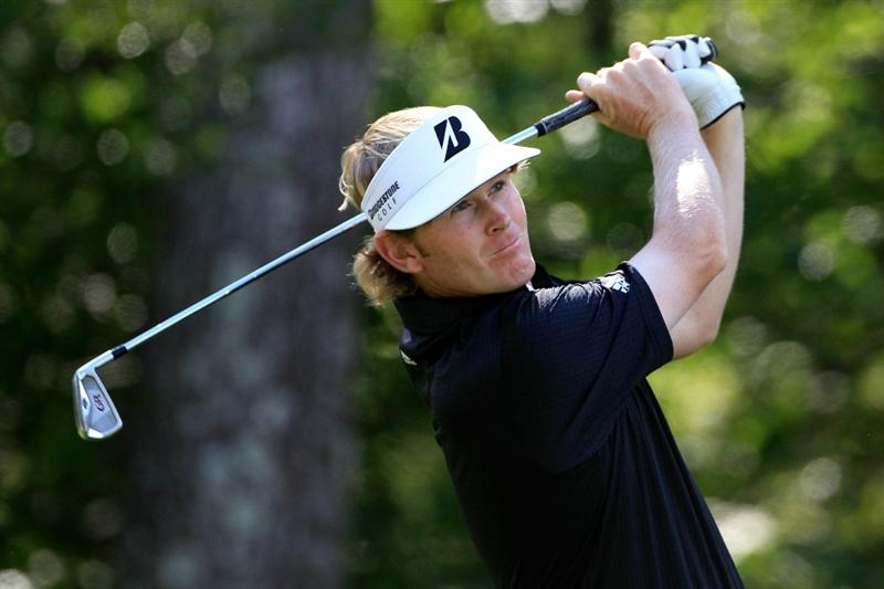 NORTON, MA - SEPTEMBER 05:  Brandt Snedeker hits the ball off the tee on the eighth hole during the third round of the Deutsche Bank Championship at TPC Boston on September 5, 2010 in Norton, Massachusetts.  (Photo by Michael Cohen/Getty Images)