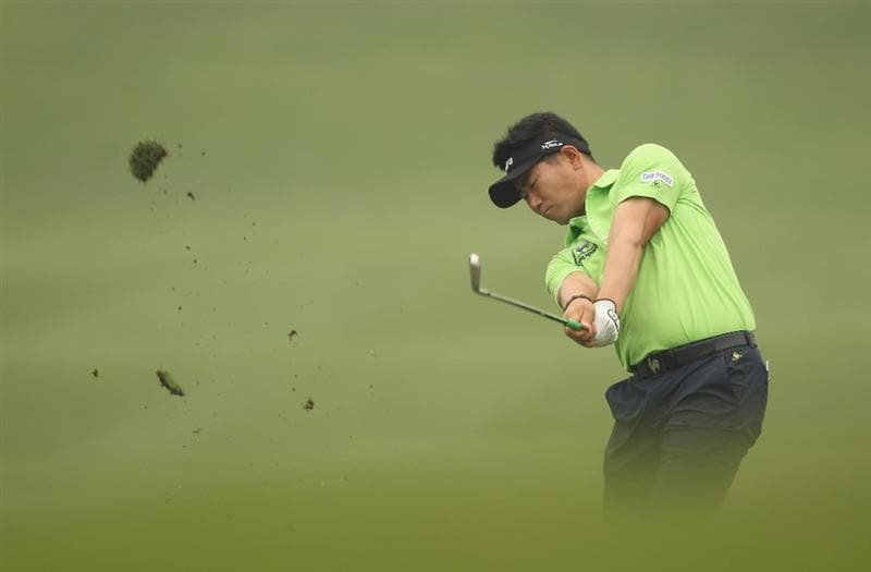 CHENGDU, CHINA - APRIL 20:  Y E Yang of China plays a shot during the Pro-Am of the Volvo China Open at Luxehills Country Club on April 20, 2011 in Chengdu, China.  (Photo by Ian Walton/Getty Images)
