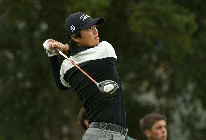 SAN MARTIN, CA - OCTOBER 17:  Ryuji Imada of Japan makes a tee shot on the second hole during the final round of the Frys.com Open at the CordeValle Golf Club on October 17, 2010 in San Martin, California.  (Photo by Robert Laberge/Getty Images)