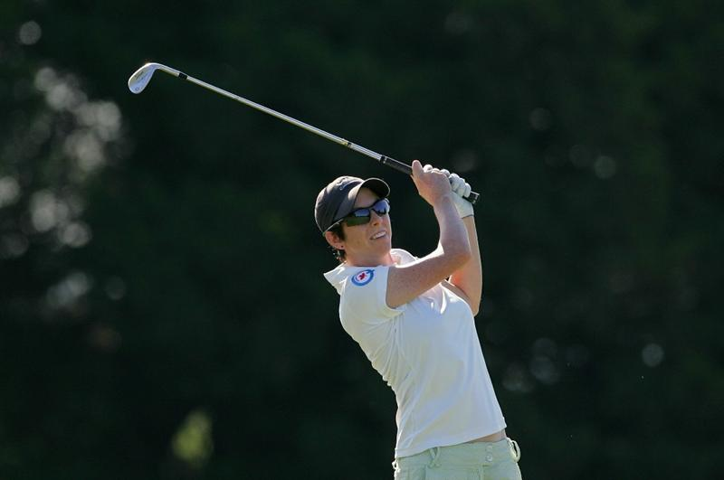 GALLOWAY, NJ - JUNE 18:  Adrienne White of Canada plays a shot during the first round of the ShopRite LPGA Classic held at Dolce Seaview Resort (Bay Course) on June 18, 2010 in Galloway, New Jersey.  (Photo by Michael Cohen/Getty Images)