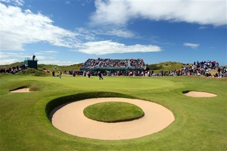 SOUTHPORT, UNITED KINGDOM - JULY 20:  A view of the 7th green during the final round of the 137th Open Championship on July 20, 2008 at Royal Birkdale Golf Club, Southport, England.  (Photo by Stuart Franklin/Getty Images)
