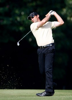 HONG KONG - NOVEMBER 17:  Mahal Pearce of New Zealand plays his approach shot on the 13th hole during the third round of the UBS Hong Kong Open at the Hong Kong Golf Club on November 17, 2007 in Fanling, Hong Kong.  (Photo by Stuart Franklin/Getty Images)