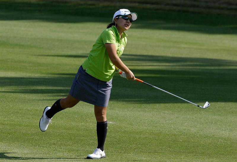 SHIMA, JAPAN - NOVEMBER 06:  Mika Miyazato of Japan on the 9th hole during round two of the Mizuno Classic at Kintetsu Kashikojima Country Club on November 6, 2010 in Shima, Japan.  (Photo by Chung Sung-Jun/Getty Images)