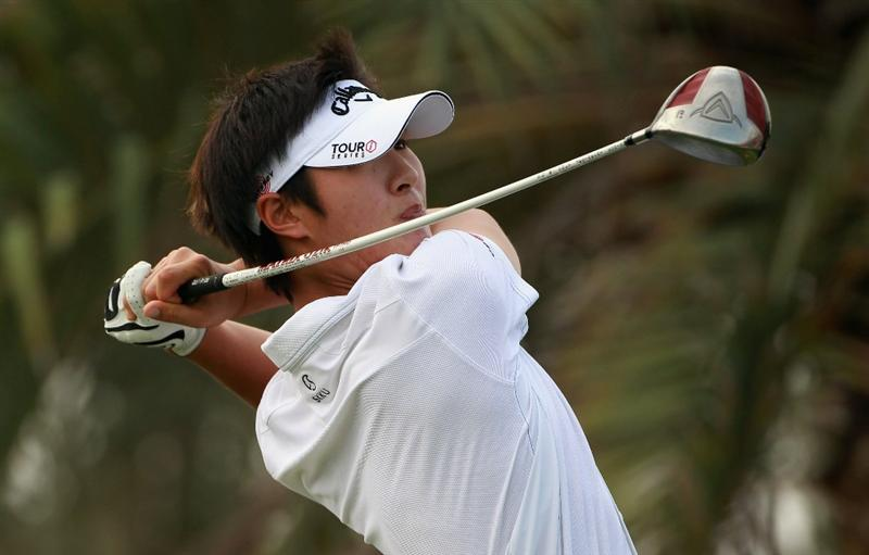ABU DHABI, UNITED ARAB EMIRATES - JANUARY 23:  Danny Lee of New Zealand in action during the final round of The Abu Dhabi HSBC Golf Championship at Abu Dhabi Golf Club on January 23, 2011 in Abu Dhabi, United Arab Emirates.  (Photo by Andrew Redington/Getty Images)