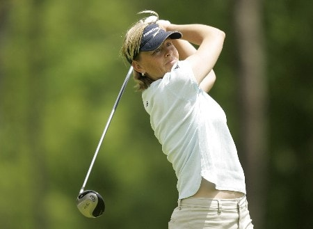 LPGA-Corning Classic-Final Round: Liselotte Neumann on the  14th hole during the final round of the Corning Classic being held at the Corning Country Club in Corning, New York on May 29, 2005. Jimin Kang won the event for her first LPGA win at -15 under par.Photo by Mike Ehrmann/WireImage.com