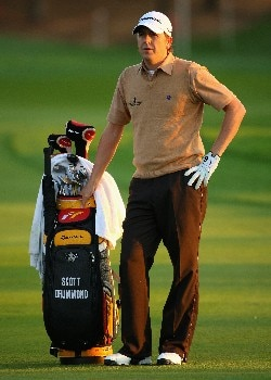 ABU DHABI, UNITED ARAB EMIRATES - JANUARY 17:  Scott Drummond of Scotland waits to hit his second shot on the tenth hole during the first round of The Abu Dhabi Golf Championship at Abu Dhabi Golf Club on January 17, 2008 in Abu Dhabi.  (Photo by Andrew Redington/Getty Images)