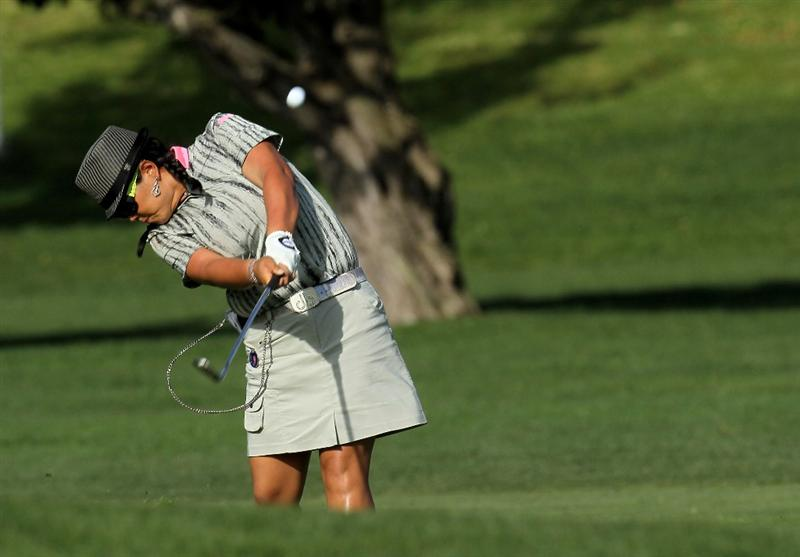 CARLSBAD, CA - MARCH 27: Christina Kim hits her second shot on the 15th hole during the third round of the Kia Classic Presented by J Golf at La Costa Resort and Spa on March 27, 2010 in Carlsbad, California. (Photo by Stephen Dunn/Getty Images)