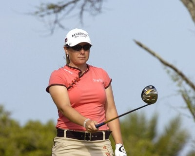 Karen Stupples tees off on the second hole during the final round of the 2006 SBS Open at Turtle Bay February 18, 2006 at Kahuku, Hawaii.Photo by Al Messerschmidt/WireImage.com