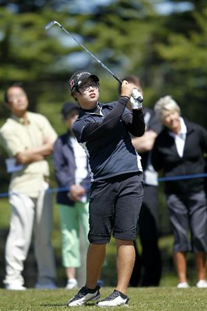 PEGASUS, NEW ZEALAND - FEBRUARY 17:  Cecilia Cho of New Zealand plays a shot on the 6th hole during day one of the Women's New Zealand Open at Pegasus Golf Club on February 17, 2011 in Pegasus, New Zealand.  (Photo by Martin Hunter/Getty Images)