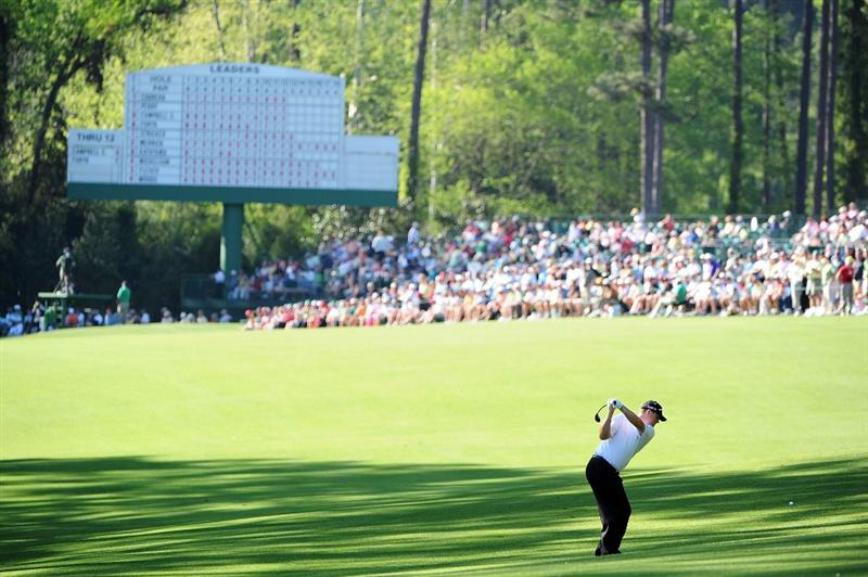 AUGUSTA, GA - APRIL 12:  Chad Campbell hits a shot on the 13th hole during the final round of the 2009 Masters Tournament at Augusta National Golf Club on April 12, 2009 in Augusta, Georgia.  (Photo by Harry How/Getty Images)