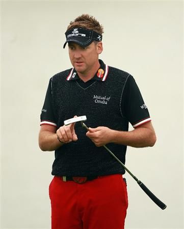 BAHRAIN, BAHRAIN - JANUARY 26:  Ian Poulter of England in action during the Pro Am prior to the start of the Volvo Golf Champions at The Royal Golf Club on January 26, 2011 in Bahrain, Bahrain.  (Photo by Andrew Redington/Getty Images)