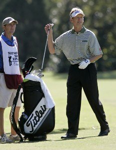 Brad Faxon on the 13th hole during the second round of the Southern Farm Bureau Classic at Annandale Golf Club in Madison, Mississippi, on September 29, 2006. Photo by Hunter Martin/WireImage.com