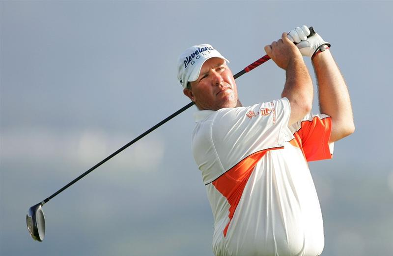 RIO GRANDE, PR - MARCH 13:  Boo Weekley hits a drive during the second round of the Puerto Rico Open presented by Banco Popular at Trump International Golf Club held on March 13, 2010 in Rio Grande, Puerto Rico.  (Photo by Michael Cohen/Getty Images)
