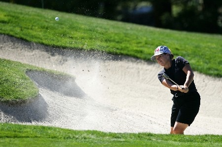 DANVILLE, CA - OCTOBER 7:  Lorie Kane of Canada makes a shot out of the bunker on the fifth hole during the final round of the LPGA Longs Drugs Challenge at the Blackhawk Country Club October 7, 2007 in Danville, California.  (Photo by Robert Laberge/Getty Images)