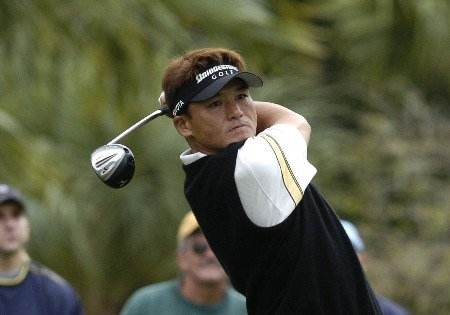 Shigeki Maruyama hits from the seventh tee during second-round competition March 4, 2005  at the  2005 Ford Championship at Doral in Miami.  Maruyama shot a 67.