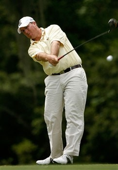 HILTON HEAD, SC - APRIL 19:  Boo Weekley hits his tee shot on the fifth hole during the third round of the Verizon Heritage at Harbour Town Golf Links April 19, 2008 in Hilton Head, South Carolina.  (Photo by Streeter Lecka/Getty Images)
