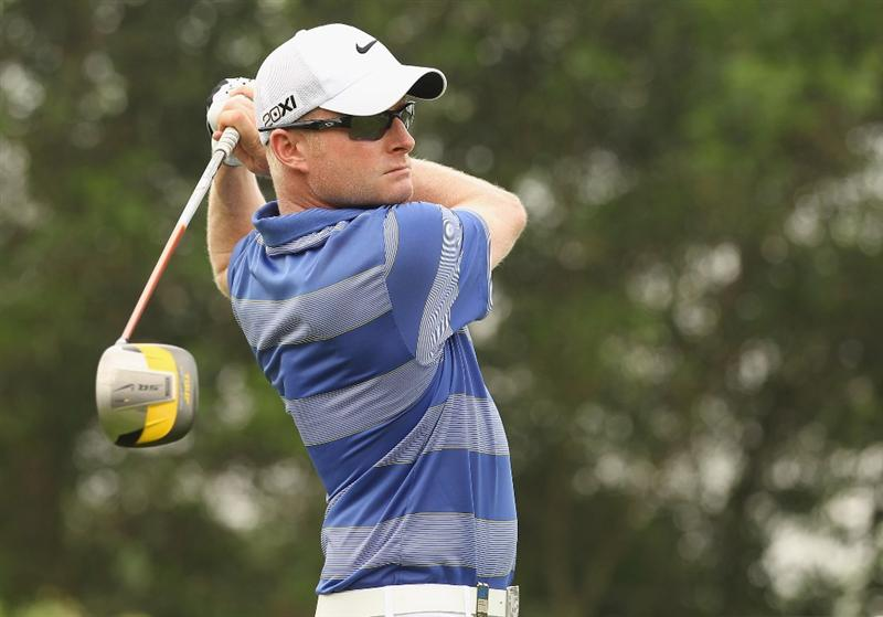 KUALA LUMPUR, MALAYSIA - APRIL 15:  Simon Dyson of England in action during the second round of the Maybank Malaysian Open at Kuala Lumpur Golf & Country Club on April 15, 2011 in Kuala Lumpur, Malaysia.  (Photo by Ian Walton/Getty Images)