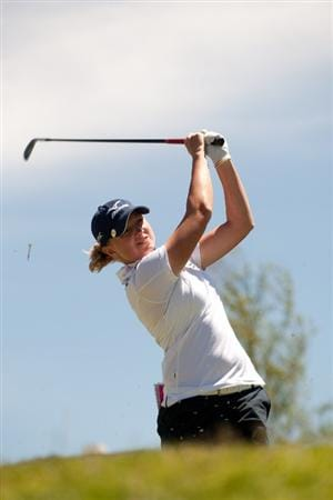 MORELIA, MEXICO - MAY 2: Stacy Lewis follows through on a tee shot during the fourth round of the Tres Marias Championship at the Tres Marias Country Club on May 2, 2010 in Morelia, Mexico. (Photo by Darren Carroll/Getty Images)