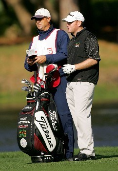 PALM HARBOR, FL - MARCH 08:  Troy Matteson plays the 14th hole during the continuation of the second round of the PODS Championship at Innisbrook Resort and Golf Club on March 8, 2008 in Palm Harbor, Florida.  (Photo by Sam Greenwood/Getty Images)