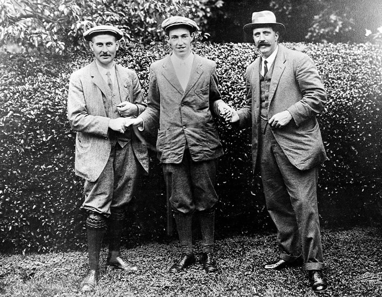 Harry Vardon, Francis Ouimet and Ted Ray