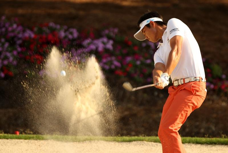 PONTE VEDRA BEACH, FL - MAY 08:  Ryuji Imada of Japan plays from a bunker on the 15th hole during the third round of THE PLAYERS Championship held at THE PLAYERS Stadium course at TPC Sawgrass on May 8, 2010 in Ponte Vedra Beach, Florida.  (Photo by Scott Halleran/Getty Images)