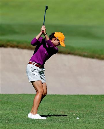 GUADALAJARA, MEXICO - NOVEMBER 13:  Loreno Ochoa plays her second shot on the first hole during the second round of the Lorena Ochoa Invitational Presented by Banamex and Corona at Guadalajara Country Club on November 13, 2009 in Guadalajara, Mexico.  (Photo by Kevin C. Cox/Getty Images)