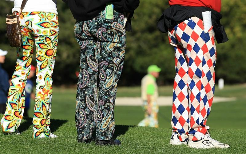 PEBBLE BEACH, CA - FEBRUARY 11:  Fans of John Daly look on as he plays from the 10th hole at the AT&T Pebble Beach National Pro-Am- Round Two at the Spyglass golf club on February 11, 2011 in Pebble Beach, California.  (Photo by Jed Jacobsohn/Getty Images)