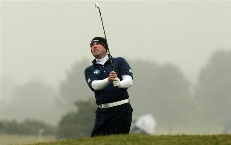 CARNOUSTIE, SCOTLAND - OCTOBER 08:  Graeme Storm of England watches his third shot at the 14th hole during the second round of The Alfred Dunhill Links Championship at Carnoustie Golf Links on October 8, 2010 in Carnoustie, Scotland.  (Photo by David Cannon/Getty Images)