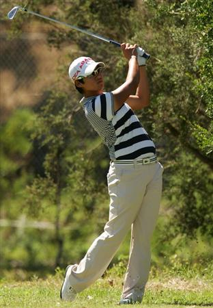 MELBOURNE, AUSTRALIA - MARCH 13:  Yani Tseng of Chinese Tapai hits an approach shot on the 5th hole during day three of the Women's Australian Open at The Commonwealth Golf Club on March 13, 2010 in Melbourne, Australia.  (Photo by Scott Barbour/Getty Images)