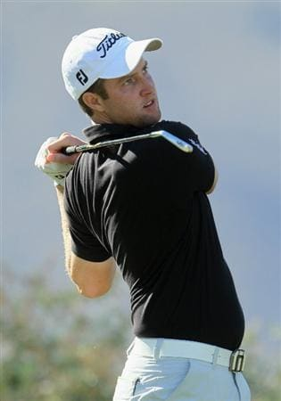 LA QUINTA, CA - JANUARY 22:  Chris Kirk hits a tee shot on the 17th hole during the fourth round of the Bob Hope Classic at the Nicklaus Private course at PGA West on January 22, 2011 in La Quinta, California.  (Photo by Jeff Gross/Getty Images)