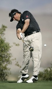 Pat Perez on the 9th hole during the second round of the Bob Hope Chrysler Classic held at The Classic Club in Palm Desert, California on Thursday, January 19, 2006.Photo by Sam Greenwood/WireImage.com