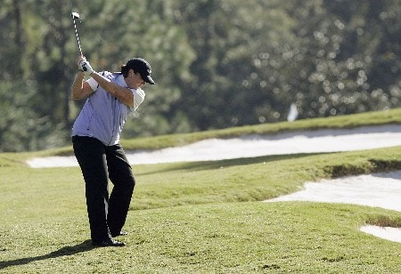 MOBILE, AL - NOVEMBER 8:  Meg Mallon hits to the first green during first round play in The Mitchell Company LPGA Tournament of Champions at Magnolia Grove Golf Course November 8, 2007 in Mobile, Alabama.  Mallon finished the first round at 5-under par. (Photo by Dave Martin/Getty Images)