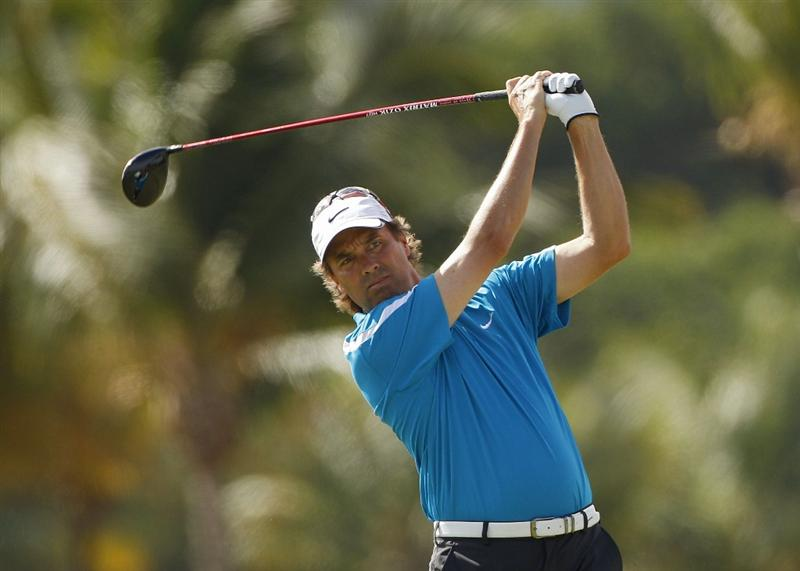 RIO GRANDE, PR - MARCH 11: Stephen Ames of Canada hits a drive during the second round of the Puerto Rico Open presented by seepuertorico.com at Trump International Golf Club on March 11, 2011 in Rio Grande, Puerto Rico.  (Photo by Michael Cohen/Getty Images)